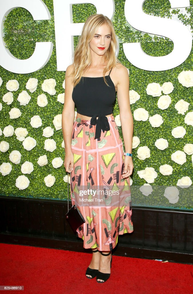 Emily Wickersham arrives to the 2017 Summer TCA Tour - CBS Television Studios' Summer Soiree held at CBS Studios - Radford on August 1, 2017 in Studio City, California.