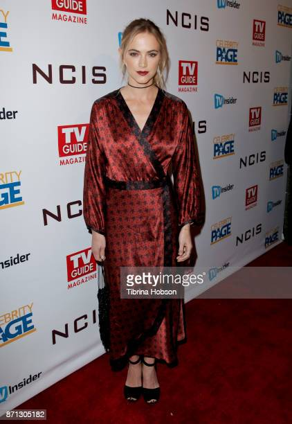 Emily Wickersham attends TV Guide Magazine's and CBS's celebration of Mark Harmon and 15 seasons of NCIS at Sportsmen's Lodge Event Center on...