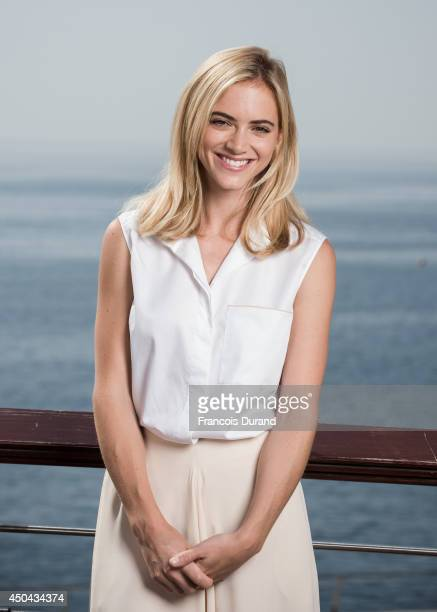 Emily Wickersham poses during a portrait session at Grimaldi Forum on June 10 2014 in Monaco Monaco