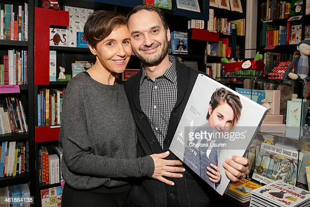 Emily Yomtobian and celebrity photographer Jeff Vespa attend the signing for his book The Art of Discovery Hollywood Stars Reveal Their Inspirations...