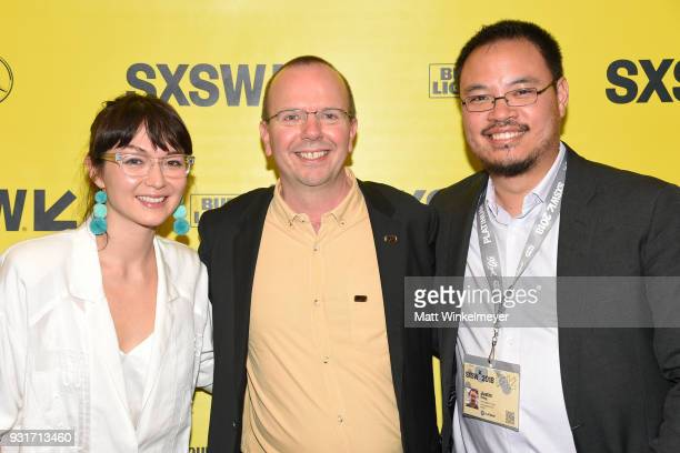 Emily Yoshida Cole Needham Justin Chang attends the SXSW Film Awards Show 2018 SXSW Conference and Festivals at Paramount Theatre on March 13 2018 in...