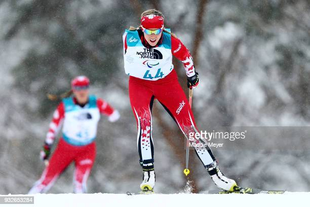 Emily Young of Canada competes int the Women's 125 km Standing Biathlon at Alpensia Biathlon Centre on Day 7 of the PyeongChang 2018 Paralympic Games...