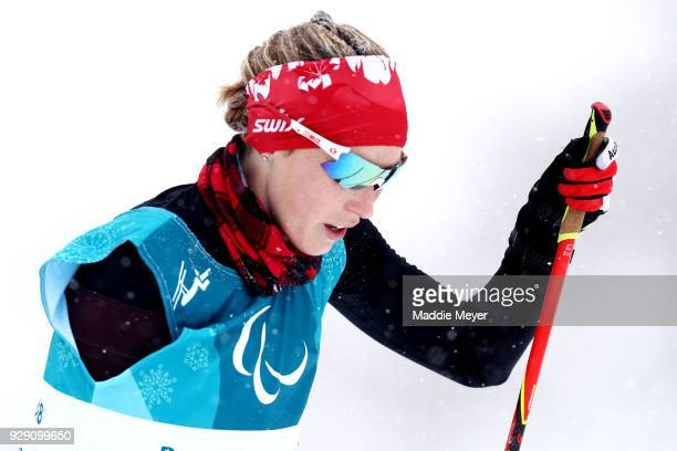 Emily Young of Canada during Cross Country Skiing training ahead of the PyeongChang 2018 Paralympic Games at Alpensia Olympic Park on March 8 2018 in...