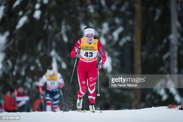 EmilyNishikawa of Canadaduring the ladies cross country 10K classic competition at FIS World Cup Ruka Nordic season opening at Ruka Stadium on...
