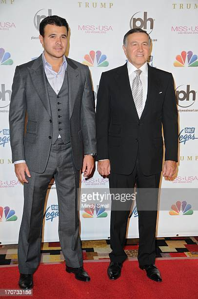Emin Agalarov and Aras Agalarov arrive at the 2013 Miss USA pageant at Planet Hollywood Resort Casino on June 16 2013 in Las Vegas Nevada