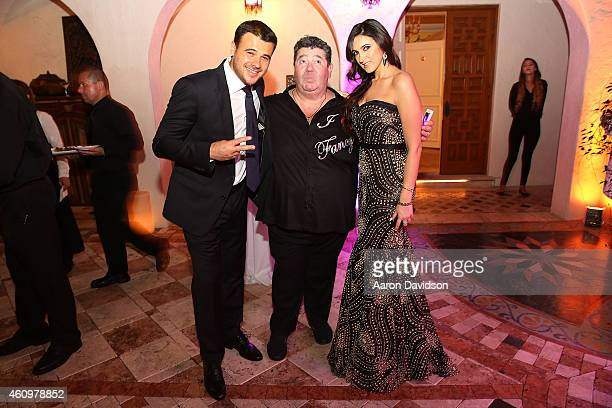 Emin Agalarov, Rob Goldstone and Sheila Agalarova attends New Years Eve And Birthday Party For Irina Agalarova at Barton G on December 31, 2014 in...