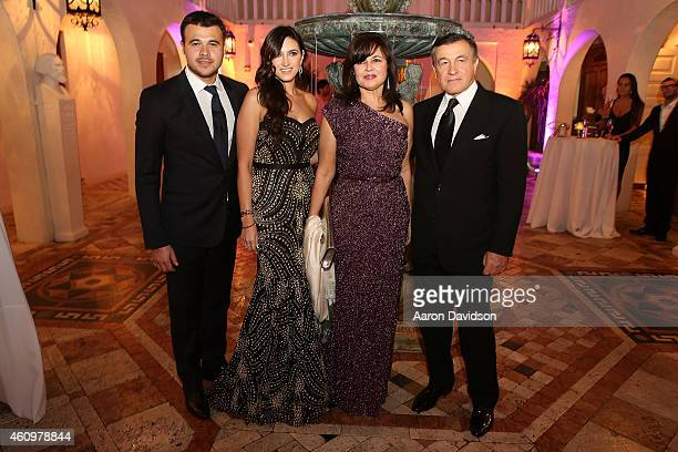 Emin Agalarov, Sheila Agalarova, Irina Agalarova and Aras Agalarov attends New Years Eve And Birthday Party For Irina Agalarova at Barton G on...