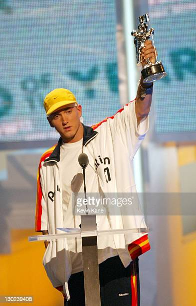 Eminem accepts the Best Video of the Year award at the 2002 MTV Video Music Awards