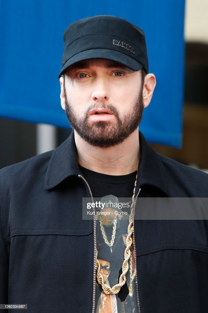 """Eminem - Curtis """"50 Cent"""" Jackson Is Honored With A Star On The Hollywood Walk Of Fame : News Photo"""