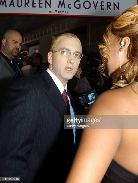 Eminem and La La Vasquez of MTV during The Shady National Convention Eminem Launches New Sirius Radio Channel Shade 45 at Roseland Ballroom in New...