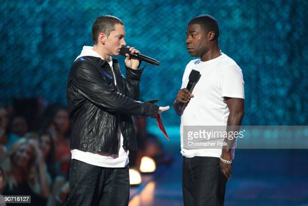 Eminem and Tracy Morgan perform the 2009 MTV Video Music Awards at Radio City Music Hall on September 13 2009 in New York City