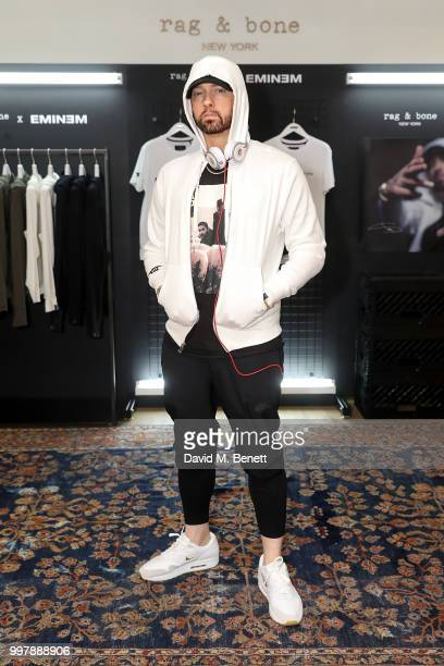 Eminem attends the rag bone X Eminem London PopUp Opening on July 13 2018 in London England