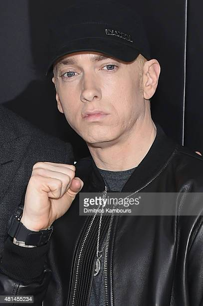 Eminem attends the 'Southpaw' New York Premiere at AMC Loews Lincoln Square on July 20, 2015 in New York City.