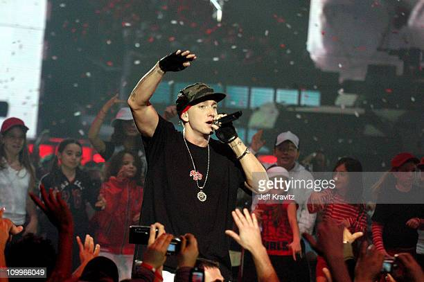 Eminem during 2004 MTV European Music Awards - Show at Torr di Valle in Rome, Italy.