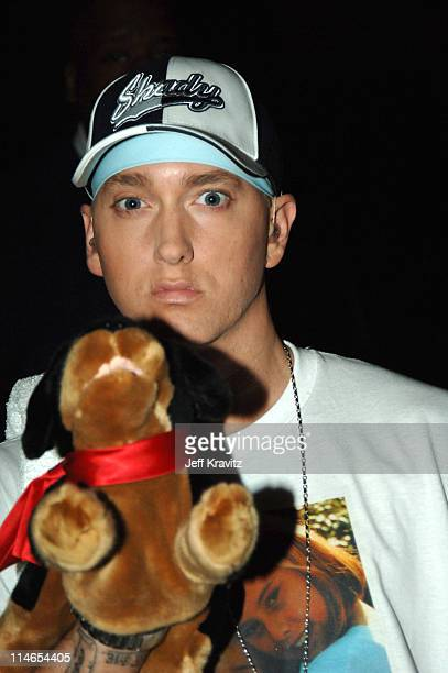 Eminem during 2005 MTV Movie Awards Backstage and Audience at Shrine Auditorium in Los Angeles California United States