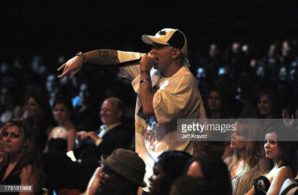 Eminem during 2005 MTV Movie Awards Show at Shrine Auditorium in Los Angeles California United States