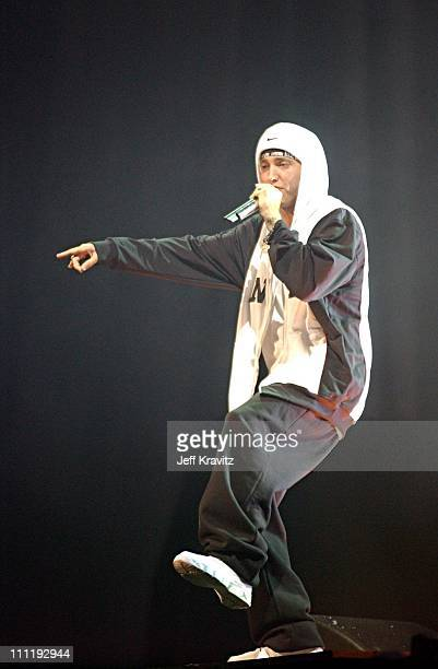 Eminem during MTV European Music Awards 2002 MTV European Music Awards 2002 at Palau Sant Jordi in Barcelona, Spain.