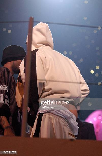 Eminem during MTV European Music Awards 2002 MTV European Music Awards 2002 at Palau Sant Jordi in Barcelona Spain