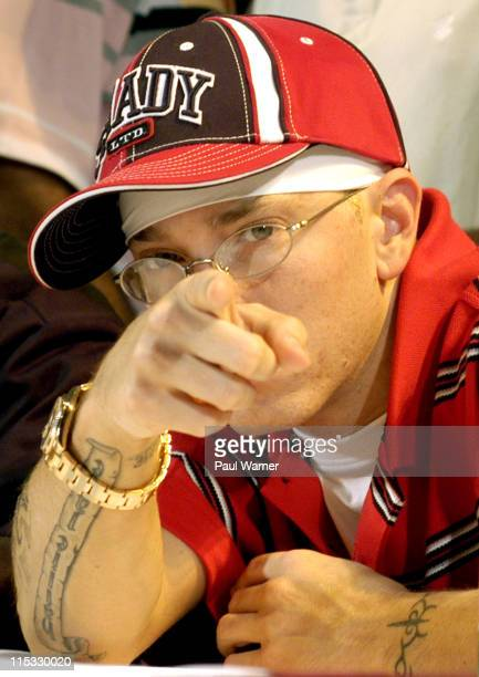 Eminem during The Detroit Hip Hop Summit at The Fox Theater in Detroit Michigan United States