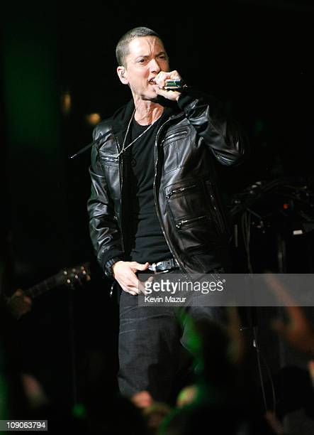 Eminem performs onstage during The 53rd Annual GRAMMY Awards held at Staples Center on February 13 2011 in Los Angeles California