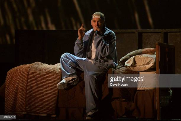 Eminem performs with Elton John at The 43rd Annual Grammy Awards Staples Center Los Angeles The Grammys will be broadcast live from Staples Wednesday...