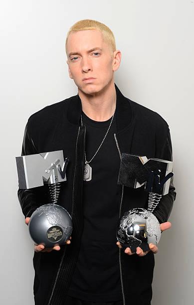 NLD: MTV EMA's 2013 - Eminem Dressing Room Exclusive