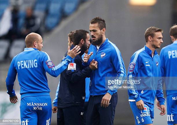 Emir Kujovic of IFK Norrkoping ahead of the Allsvenskan match between IFK Norrkoping and IF Elfsborg at Ostgotaporten on May 29 2016 in Norrkoping...