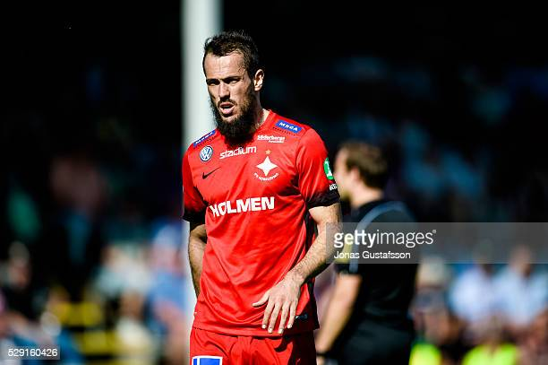 Emir Kujovic of IFK Norrkoping during the allsvenskan match between Jonkoping Sodra IF and IFK Norrkoping at Stadsparksvallen on May 8 2016 in...