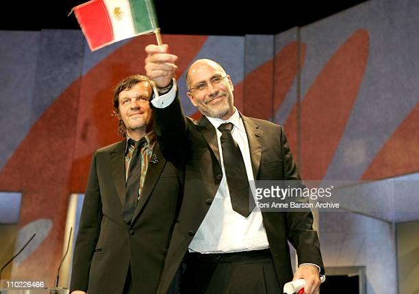 Emir Kusturica and Guillermo Arriaga Winner of Best Screenplay Award for The Three Burials Of Melquiades Estrada