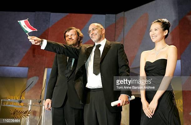 Emir Kusturica Guillermo Arriaga Winner of Best Screenplay Award for 'The Three Burials Of Melquiades Estrada' and Ziyi Zhang