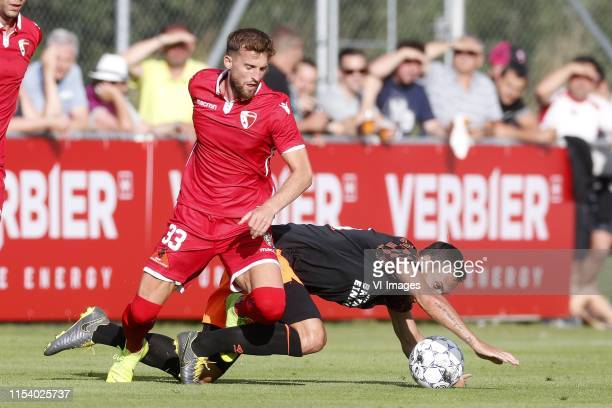 , Emir Lenjani of FC Sion, Trent Sainsbury of PSV during the Pre-season Friendly match between FC Sion v PSV Eindhoven at Stade Saint-Marc on July...
