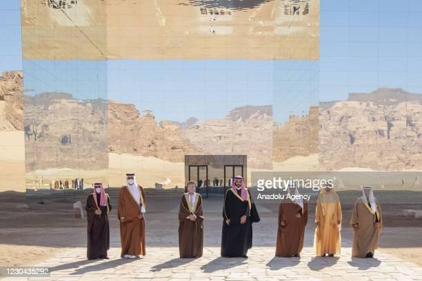 Emir of Qatar Sheikh Tamim bin Hamad al-Thani , Crown Prince of Saudi Arabia Mohammed bin Salman , Deputy Prime Minister of Oman Fahd bin Mahmoud al...