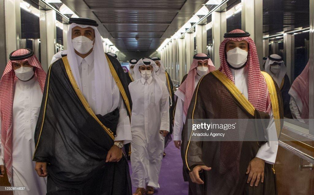 Qatar Sheikh Tamim bin Hamad al-Thani in Jeddah : News Photo