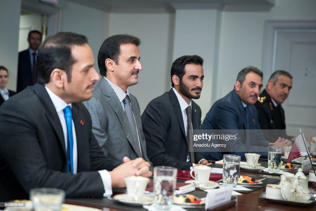Emir of Qatar Tamim bin Hamad Al Thani in USA : News Photo