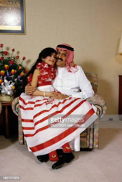 Emir Turki Bin Abdul Aziz King Fahd's Brother In His Palace In Jeddah mai 1985 Portrait de l'Emir Turki BIN ABDUL AZIZ frère du Roi FAHD dans son...