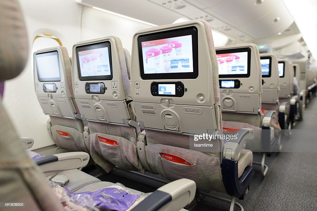 Emirates Airbus A380 Aircraft Interior Stock Photo Getty Images