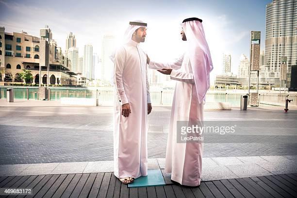 Emirates Business men downtown Dubai