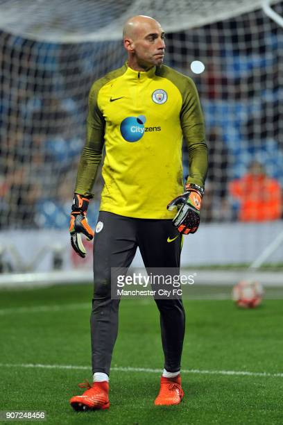 Emirates FA Cup Manchester City v Huddersfield Etihad Stadium Manchester City's Willy Caballero before the Emirates FA Cup match at the Etihad...