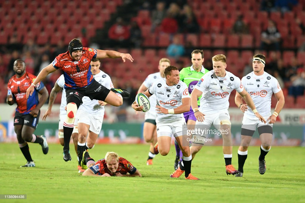 2019 Super Rugby: Emirates Lions v Cell C Sharks : News Photo