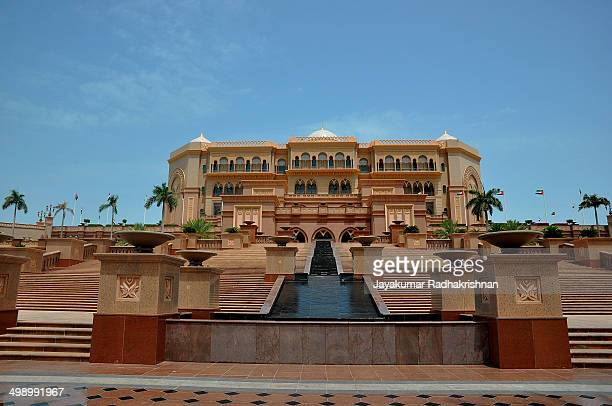 Emirates Palace in Abu Dhabi, United Arab Emirates. Luxury and a real iconic Abu Dhabi landmark, built with arabian style.
