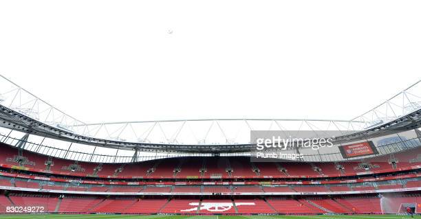 Emirates Stadium ahead of the premier league match between Arsenal and Leicester City at Emirates Stadium on August 11 2017 in London United Kingdom