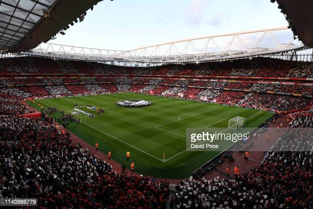 Emirates Stadium before the UEFA Europa League Semi Final First Leg match between Arsenal and Valencia at Emirates Stadium on May 2 2019 in London...