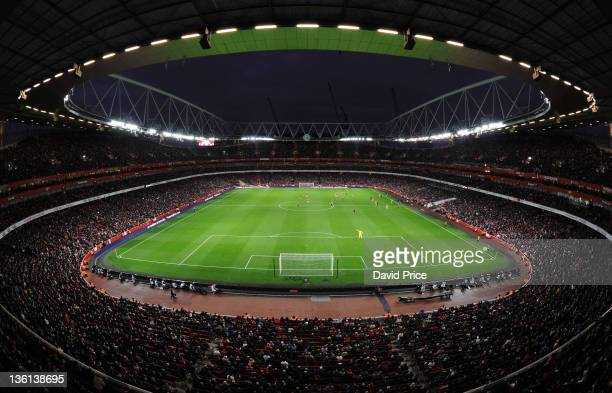 Emirates Stadium during the Barclays Premier League match between Arsenal and Wolverhampton Wanderers at Emirates Stadium on December 27 2011 in...