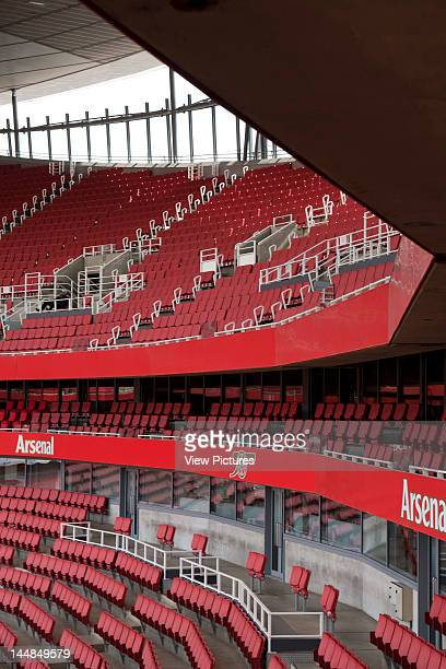Emirates Stadium, Hornsey Road, London, N5, United Kingdom, Architect: Hok Sport Emirates Stadium, Hok Sport, London View Of Stands
