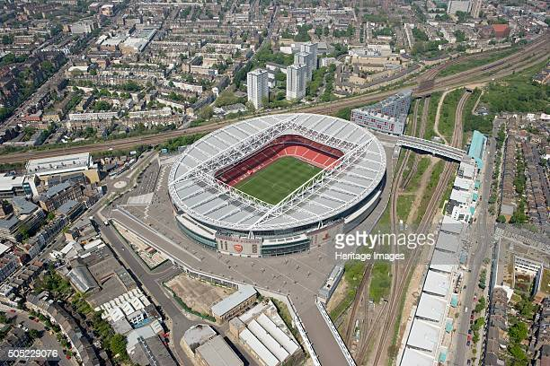 Emirates Stadium London 2008 Aerial view Opened in July 2006 as the replacement for Arsenal Football Club's historic home at Highbury this 60000...