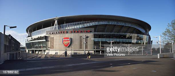Emirates Stadium, London, United Kingdom, Architect Hok Sport Emirates Stadium Panoramic Shot Of Stadium With Arsenal Logo.