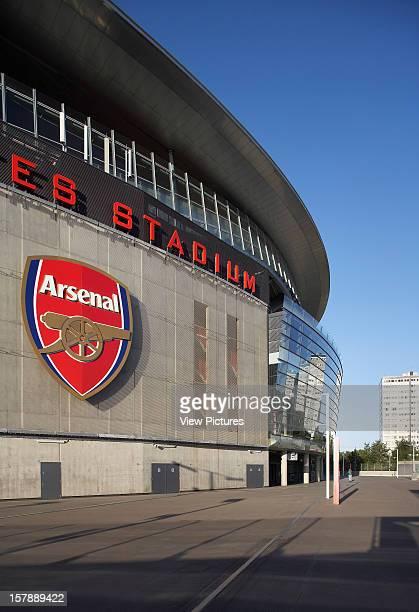Emirates Stadium London United Kingdom Architect Hok Sport Emirates Stadium Side Crop With Arsenal Logo