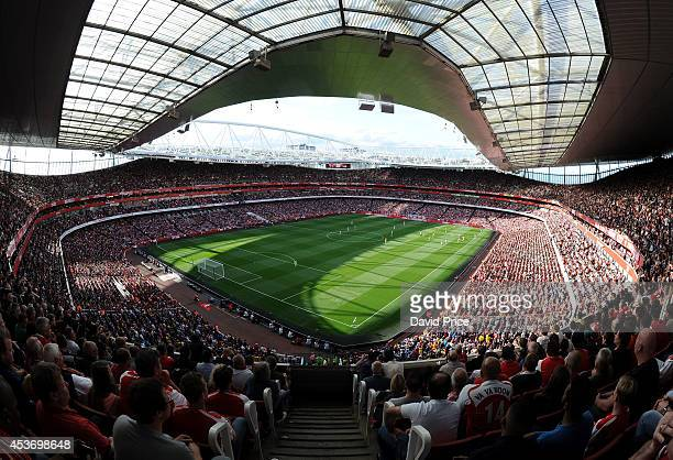 Emirates Stadium the home of Arsenal during the Barclays Premier League match between Arsenal and Crystal Palace at Emirates Stadium on August 16...