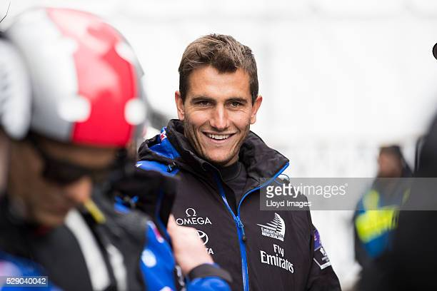 Emirates Team New Zealand crewman Blair Tuke during Day 1 of the Louis Vuitton America's Cup World Series on the Hudson River on May 7 2016 in New...