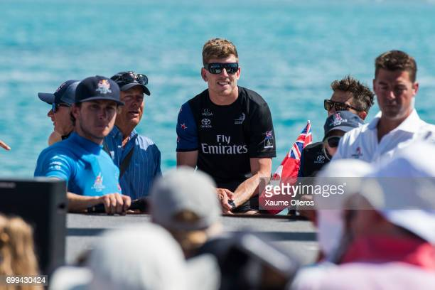 Emirates Team New Zealand Peter Burling looks on prior to the prize giving of the Red Bull Youth America's Cup finals on June 21 2017 in Hamilton...